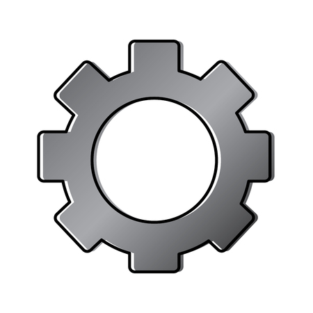 gear setting wheel technology icon vector illustration