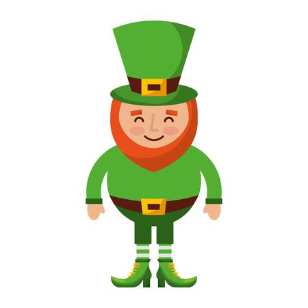 leprechaun happy cartoon st Patrick's day character vector illustration Ilustracja