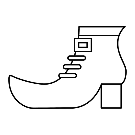 shoe boot of leprechaun vector illustration outline design Illustration