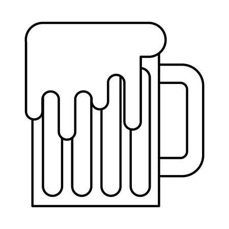 mug beer glass drink traditional vector illustration outline design
