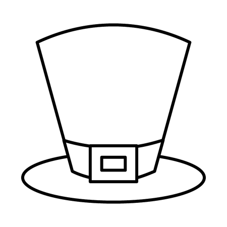 top hat accessory fashion irish vector illustration outline design Illustration