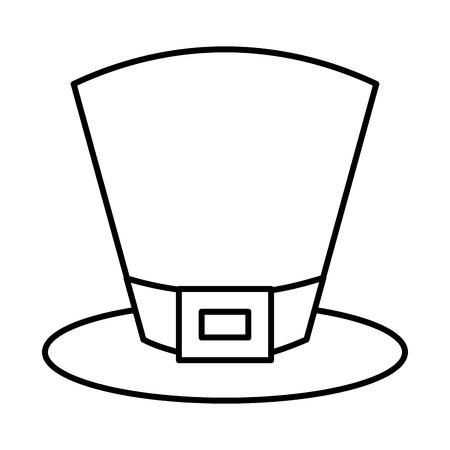 top hat accessory fashion irish vector illustration outline design Ilustracja