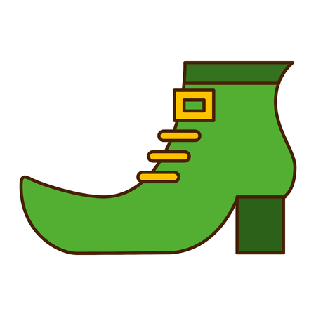 green shoe boot of leprechaun vector illustration