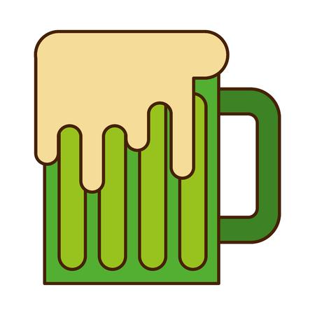 green mug beer glass drink traditional vector illustration Illusztráció