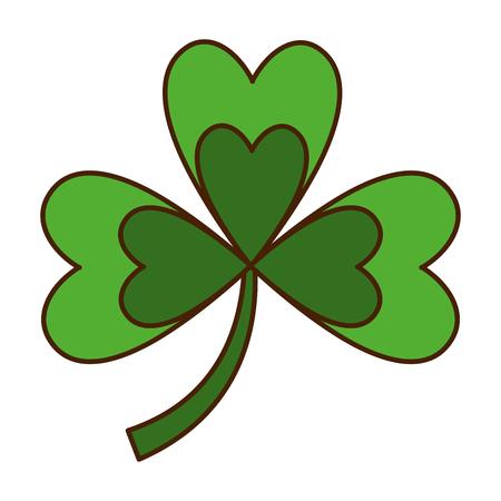 green clover three leaves luck symbol vector illustration