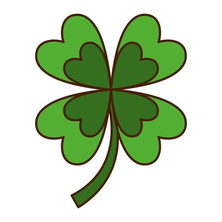 four leaves clover good fortune vector illustration Illustration