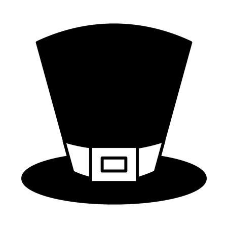 een top hat accessory fashion irish vector illustration black and white image