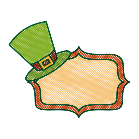 green hat and sing board empty vector illustration drawing image design Illustration