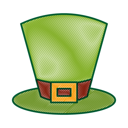 green top hat accessory fashion irish vector illustration drawing image design