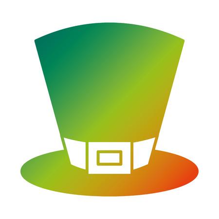 green top hat accessory fashion Irish vector illustration degraded color design Ilustracja