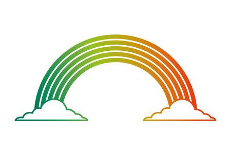 虹色雲魔法ファンタジーベクトルイラスト劣化カラーデザイン