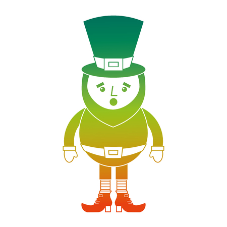 leprechaun surprise cartoon st Patricks day character vector illustration degraded color design Ilustrace