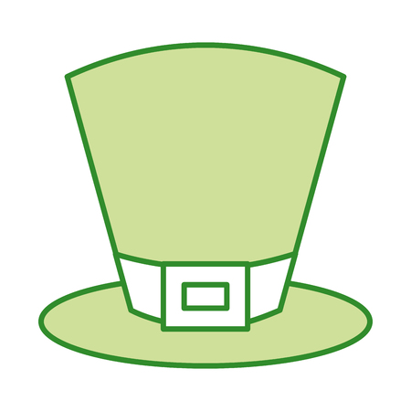 green top hat accessory fashion irish vector illustration