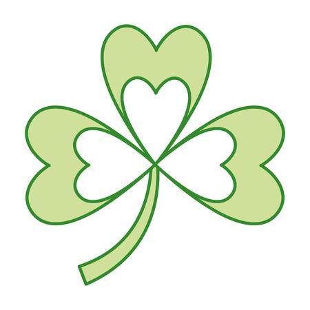 Green clover three leaves luck symbol vector illustration Illustration