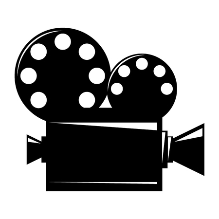 film projector cinema camera reel strip vector illustration