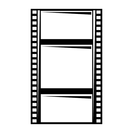 blank film strip negative border hole vector illustration Ilustracja