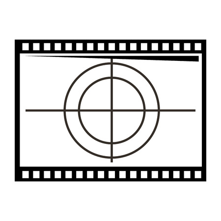 film film aftellen frame retro cinema vector illustratie