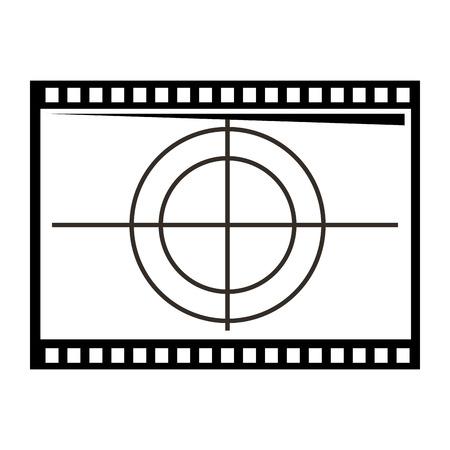 film movie countdown frame ilustração em vetor retrô cinema