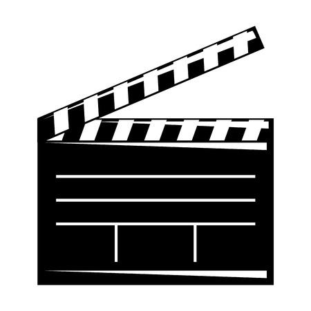 Movie clapper board open cinematography concept vector illustratio