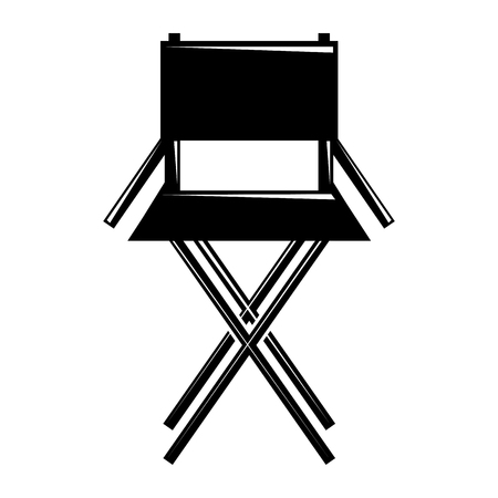 movie director chair equipment furniture icon vector illustration