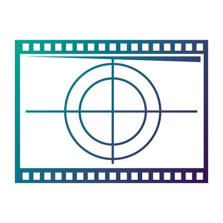 Film film aftellen frame retro cinema vector illustratie aangetast kleur ontwerp