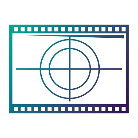 Film movie countdown frame retro cinema vector illustration degraded color design