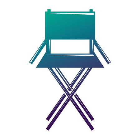 Movie director chair equipment furniture icon vector illustration degraded color design