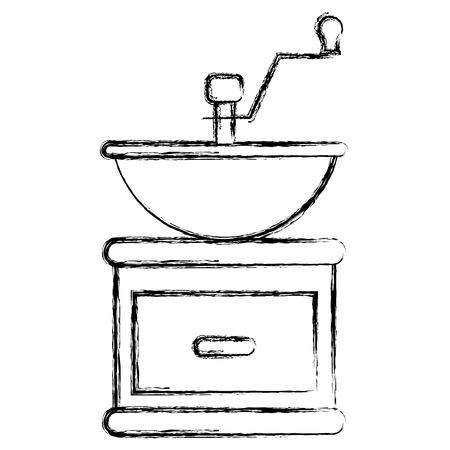 Coffee grinder machine icon vector illustration design.