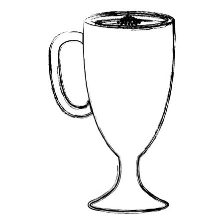 Iced delicious coffee icon vector illustration design. Illustration