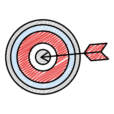 target with arrow icon vector illustration design Çizim