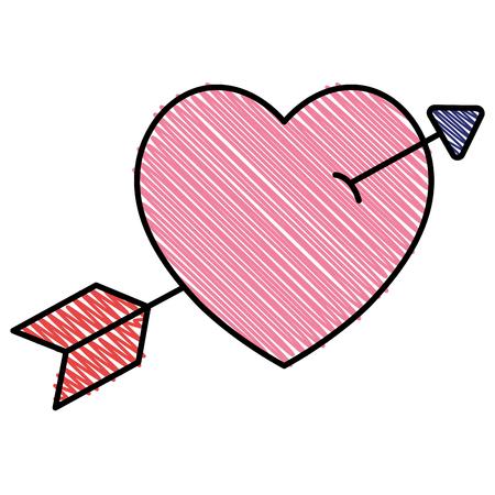 Heart with arrow icon vector illustration design Ilustração