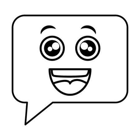 Speech bubble character illustration design Ilustração