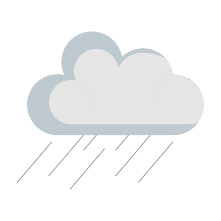 Weather cloud rainy icon vector illustration design Ilustração