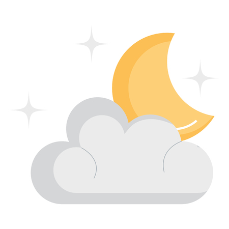 Weather cloud with moon vector illustration design Stock Vector - 94578780