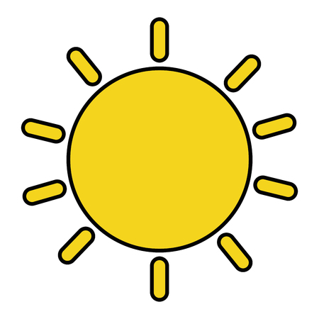 Summer sun isolated icon vector illustration design Ilustracja