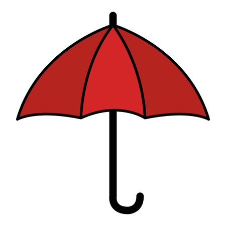 An open umbrella isolated icon vector illustration design