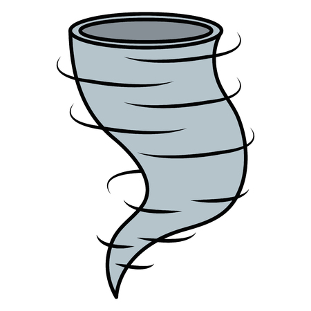 An air twister isolated icon vector illustration design