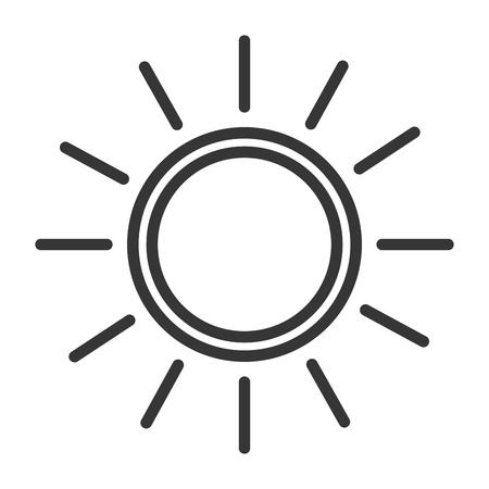 Summer sun isolated icon vector illustration design Ilustrace