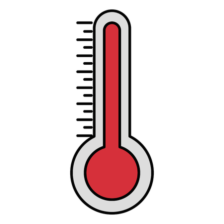 Thermometer for temperature icon vector illustration design Stock Illustratie