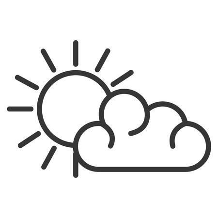 Summer sun with cloud vector illustration design Illustration