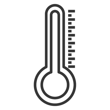 Thermometer measure temperature icon vector illustration design Illustration