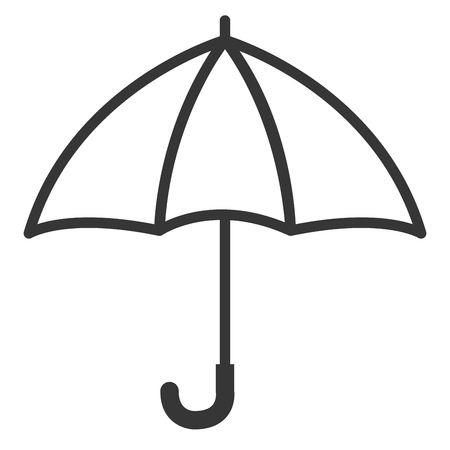 umbrella open isolated icon vector illustration design Illustration