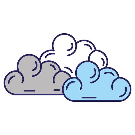 날씨 구름 격리 아이콘 벡터 일러스트 디자인 일러스트