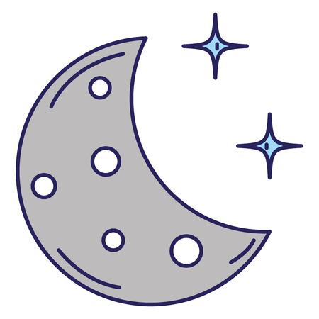 halve maan met sterren vector illustratie ontwerp