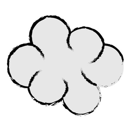気象雲分離アイコンベクトルイラストデザイン  イラスト・ベクター素材