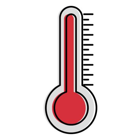 thermometer measure temperature icon vector illustration design  イラスト・ベクター素材