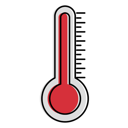 thermometer measure temperature icon vector illustration design Stock Illustratie