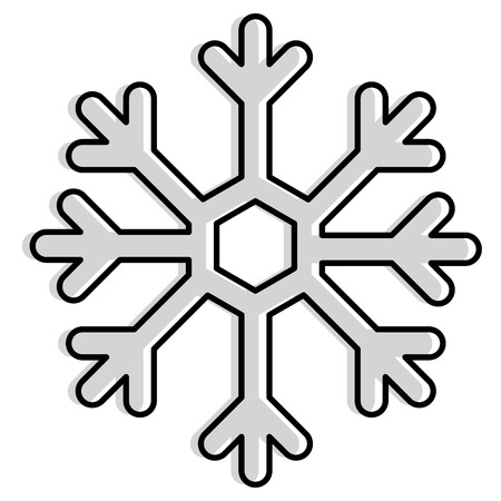 Snowflake isolated icon vector illustration