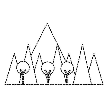 Mountainous landscape scene icon vector illustration design.