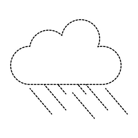 Rainy cloud icon vector illustration design